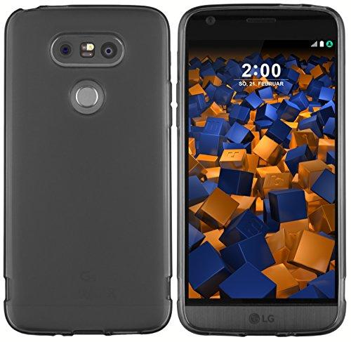 mumbi Hülle kompatibel mit LG G5 Handy Hülle Handyhülle, transparent schwarz
