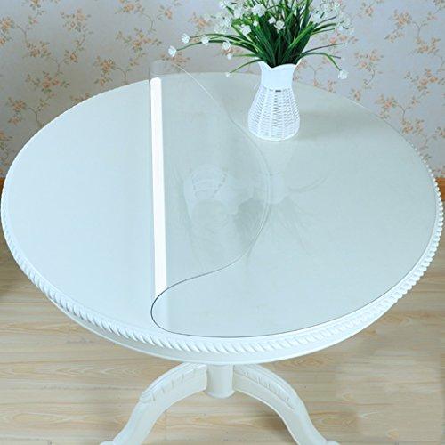 Nappes Circulaire de PVC de Verre Mou imperméable à l'eau Anti-Chaude de Table Plaque de Cristal (Couleur : Thickness -1.5mm, Taille : Diameter 70 cm)
