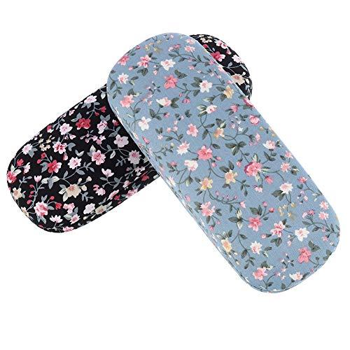 Xinzistar 2 Stücke Brillenetui Hardcase für Damen Herren, Blumen Sonnenbrille Brillenetui Hartschalen Brillenbox Schutzhülle für Brillen Sonnenbrillen