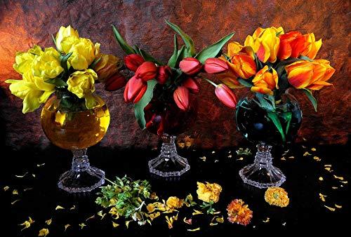 MOY78NWZH Blumengesteck Im Weinglas Puzzle 1500 Teile Puzzle Für Erwachsene DIY Festival Geschenk Moderne Wohnkultur Wandkunst Intelligenz Spiel 87x57cm