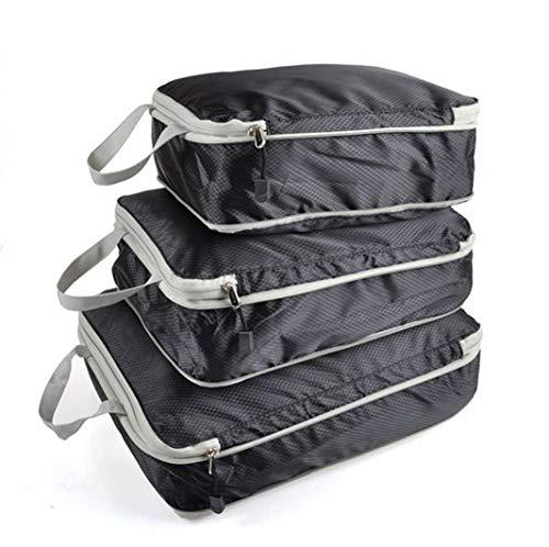 圧縮バッグ 超便利 旅行 超大容量 ファスナー圧縮で衣類スペース50%節約 便利グッズ 圧縮トラベルポーチ 収納バッグ 衣類仕分け 軽量 出張 旅行 簡単圧縮