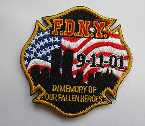 FDNY F.D.N.Y. NYC Fallen Heroes 9-11-01Military Patch Fabric Embroidered Badges Patch Tactical Stickers for Clothes with Hook & Loop