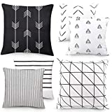 Outuxed 6er Set Geometrischen Dekorative Kissenbezüge 45x45cm Büro Sofa Dekoration aus Baumwolle...