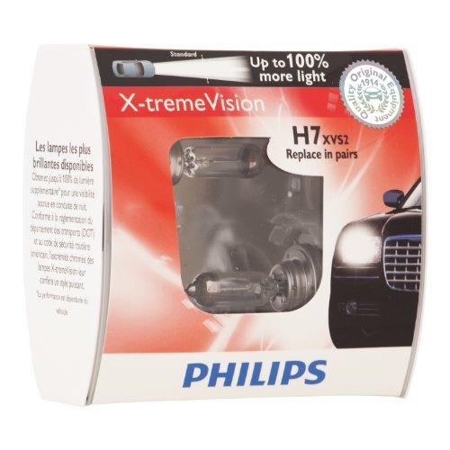 Philips X-tremeVision 37170328 H7 55W Halógeno PX26d 1500lm Bombilla para Coche X-tremeVision 37170328, H7, 55 W, Halógeno, Luces largas, Luces Cortas, PX26d, 3700 K