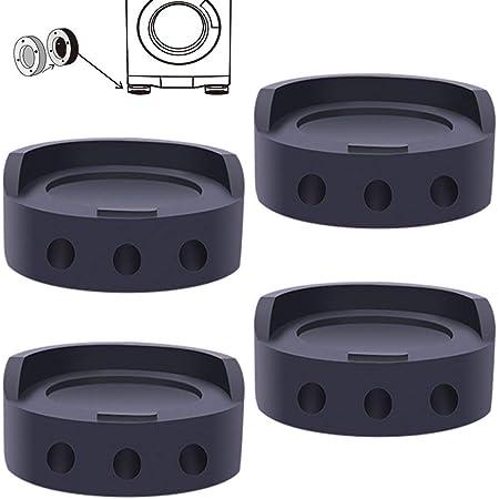 4 Pièces Tapis Anti-vibration pour Machine à Laver, Tampons Pieds en Caoutchouc Anti-Vibrations, pour Machine à Laver, Réfrigérateur