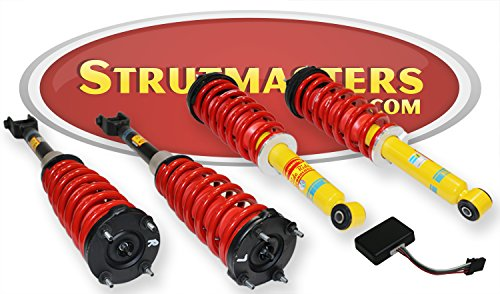 Strutmasters 4 Wheel Air Suspension Conversion Kit With Suspension Warning Light Module for 2004-2010 Jaguar XJ8