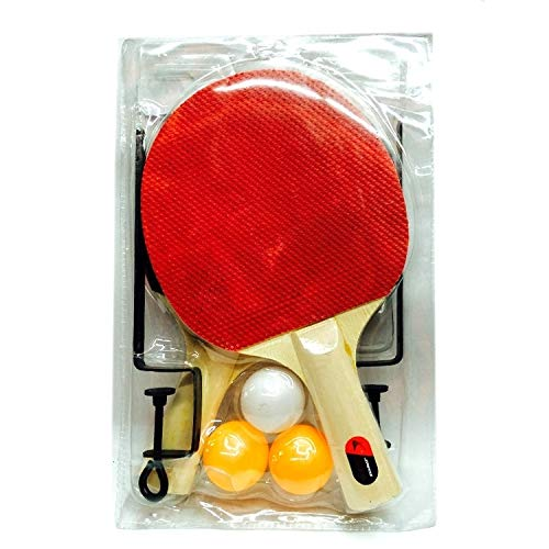 Best Deals! SPORTBAI 4 in 1 Table Tennis Racket + Table Tennis + Net + Rack Set