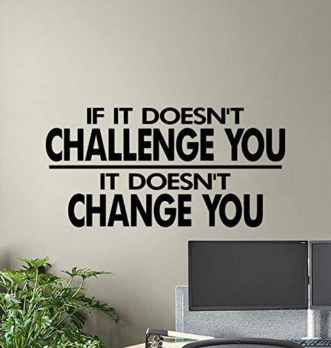 Wenn es Sie nicht herausfordert, ändert es Sie nicht Wandtattoo Gym Poster Motivations Zitat Vinyl Aufkleber Fitness Dekor Workout Wandkunst 895