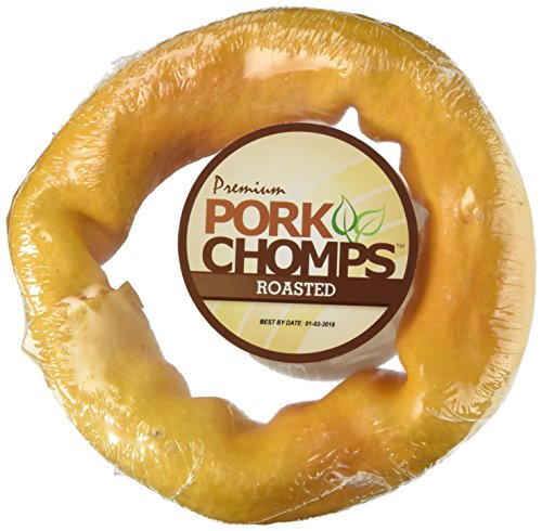 Scott Pet Pork CHOMPS 6' Smoked Pork Skin Donut Wrapped