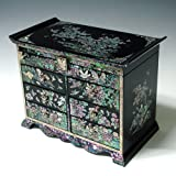 Alive Jewellery - Caja de regalo para madre de perla asiática, laca negra de madera, joya regalo de...