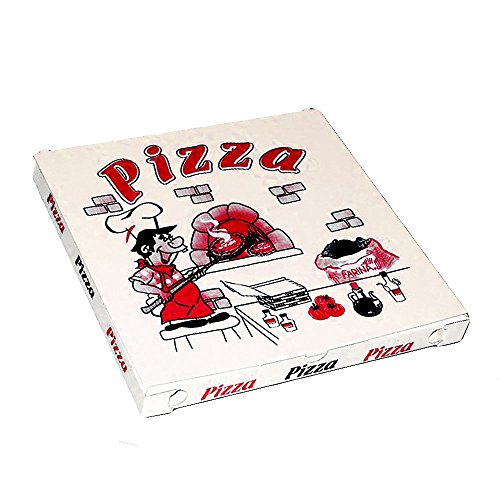 PZ 100 SCATOLA PER PIZZA CM 33 X 33 PER ALIMENTI IN CARTONE ECOLOGICO IDEALE PER PIZZE PIADINE E PANINI