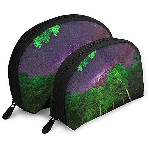 Milchstraße Himmel Natur tragbare Taschen Make-up Tasche kulturbeutel, multifunktions tragbare reisetaschen kleine Make-up Kupplung Tasche mit reißverschluss