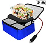TrianglePatt Personal Portable Oven, Electric Slow Cooker For Food,Mini Oven For Meals Reheat,Food Warmer with Lunch Bag(12V)
