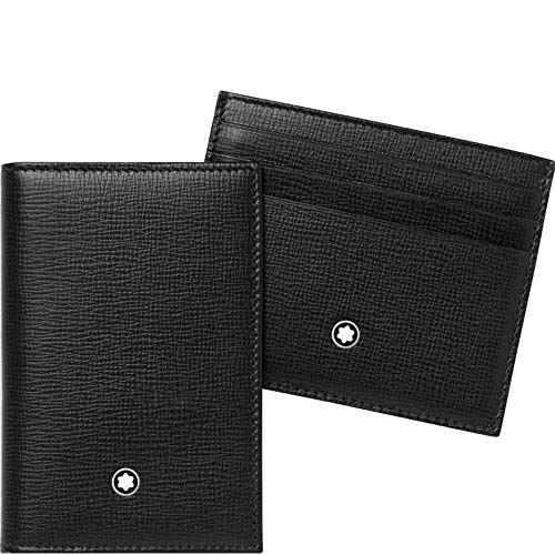 Montblanc Gift Set Unisex Medium Black Leather Card Holder Wallets 116852