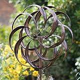 Creekwood Pemberley Windskulptur Spinner, gebürstetes Kupfer, 61 x 213 cm