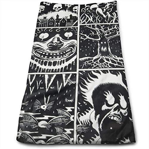 Halloween Swag Animal Skull Hotel Toalla de baño de algodón de Lujo 30 x 70, Juegos de baño Suaves Tipo SPA, de Secado rápido, Toallas de Ducha extragrandes de Gran tamaño