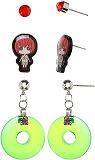 Crunchyroll Bananya Earrings Set Costume Jewelry Ancient Magus Bride Anime 3/PK