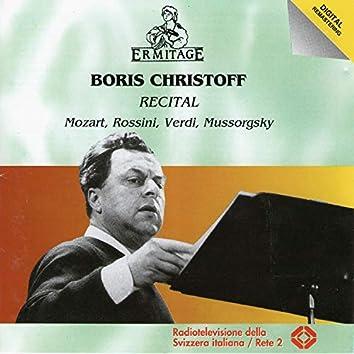 Boris Christoff -Recital Mozart, Rossini, Verdi, Mussorgsky