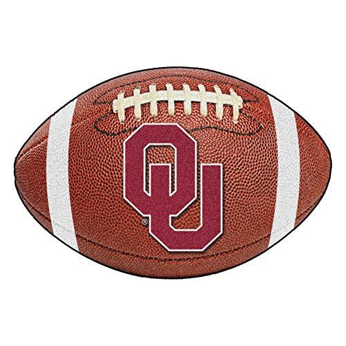 FANMATS NCAA University of Oklahoma Sooners Nylon Face Football Rug