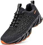 Kefuwu Zapatos de Running para Hombre Transpirables Aire Libre y Deportes Correr Asfalto Casual para Deportivas de Malla(Gris 40)