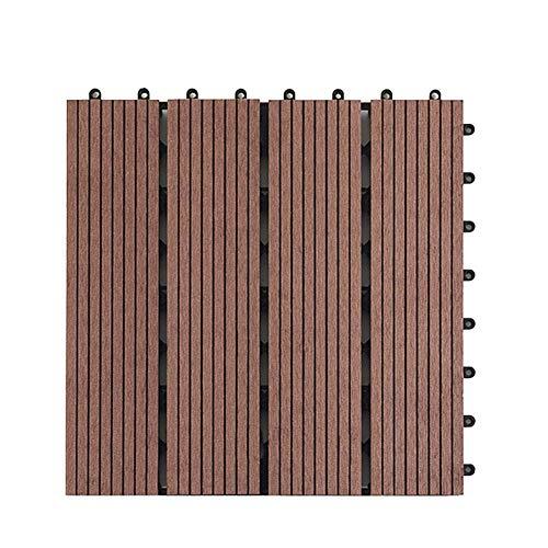 Suelo Entablado, Exterior Respetuoso con el Medio Ambiente Bricolaje Empalme Easy Fit Azulejos Jardín Balcón Patio Anticorrosión Terraza Tabla Impermeable 30x30cm Accesorios