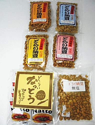 ドライ納豆 6種類(うす塩・梅・ピリ辛・醤油味・無塩・イリコ入り各1袋合計6袋)