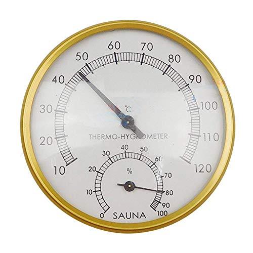 Heoolstranger sauna thermometer hygrometer - metalen wijzerblad sauna thermometer thermometer temperatuurbestendig sauna ruimte accessoires