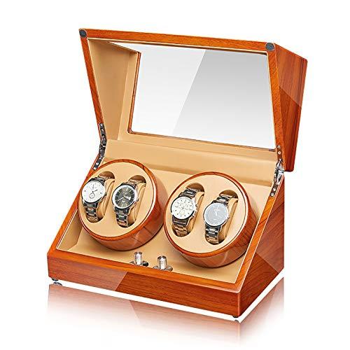 Guarda Winder Guarda avvolgitore - Apple Wood Wood Watch Box Avvolgimenti per la casa Agitatore Automatico Automatico Orologi meccanici Avvolgitore Avvolgitore in legno massello di alto livello orolog