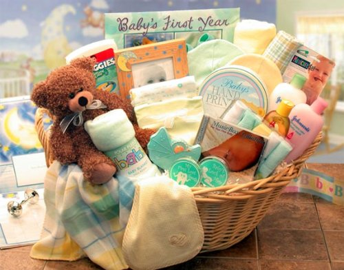 Deluxe Blue Ranking TOP12 70% OFF Outlet Welcome Home Baby Gift -Boy Basket