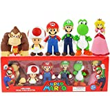environmentally friendly material, non-toxic, odorless and burr-free. 6 Piece Figurine Playset, Characters From the Hit Nintendo Game, Super Mario Brothers This set of 6 figure bundle contains figures from the New Super Mario Bros series