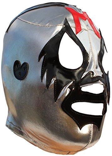 Mil Máscaras High Quality Lycra Lucha Libre Luchador Mask Adult Size Silver