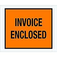 Ship Now Supply SNPL17 Invoice Enclosed Envelopes 4 1/2 x 5 1/2 5width 4.5 Length Orange (Pack of 1000) [並行輸入品]