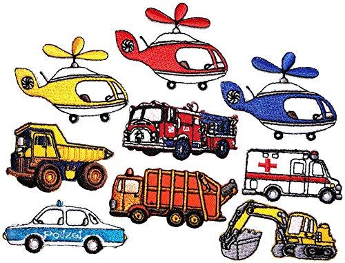 i-Patch - Patches - 0162 - Feuerwehr - Polizei - Lastwagen - Traktor - Bagger - Trecker - Auto - Flicken - Aufnäher - Badges - Bügelbild - Aufbügler - Iron-on - DIY - Applikation - zum aufbügeln
