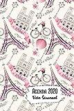 Agenda 2020 Vista Semanal: 12 Meses Programacion Semanal Calendario en Espanol Diseno Paris in Rosa