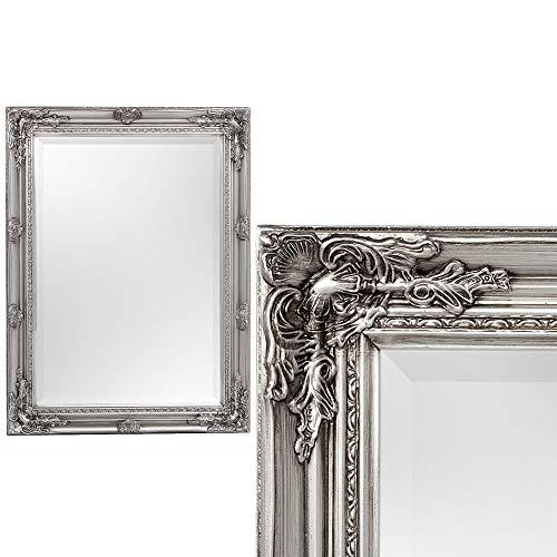 Spiegel House barock Antik-Silber ca. 60x80cm Wandspiegel Flurspiegel Badspiegel