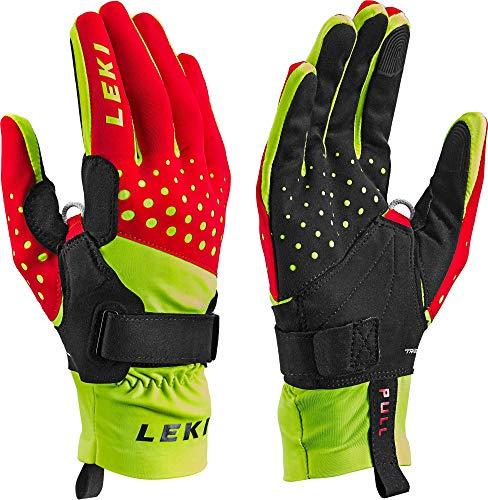 LEKI Nordic Race Shark - red Yellow Black - Langlauf Handschuhe mit Trigger S Shark, Handschuhgröße Reusch & Fischer:9