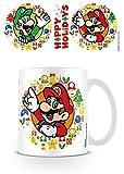 Super Mario - Mug Happy Holidays, 320 ML