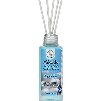 La Casa Aromas Mikado Reposicion 100 Ml con Varillas (Algodon): Amazon.es: Hogar