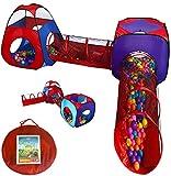 Playz 4pc Pop Up Children Play Tent w/ 2 Crawl...