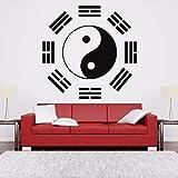 Olivialulu Ying Yang Sign Logo Aikido Pegatinas De Pared Extraíbles Para Sala De Estar Fondo Tatuajes De Pared Dormitorio Papel Tapiz Murales De Arte L226