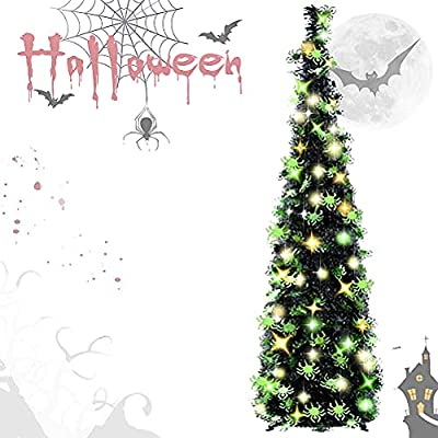 Amazon Promo Code for 5ft Black Tinsel Halloween Christmas Tree with Plump 19102021040519
