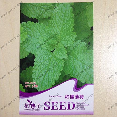 original del paquete semillas de vainilla, limón menta (bálsamo), la floración madura 90 días, 30 partículas de semillas / bolsa