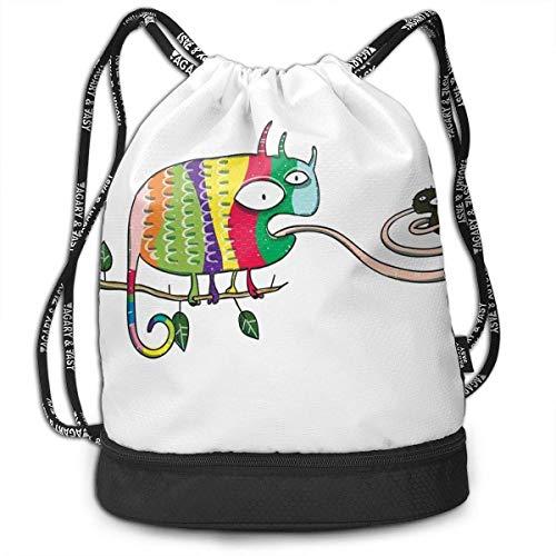 fuyon Ninja Puppy with Nunchuk Karate Dog Long Lasting Drawstring Bag Backpack Bundle Backpack