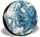 PageHar Cubierta para Llantas de Repuesto, Cubiertas de poliéster para Ruedas, Protectores de Llantas Resistentes a la Intemperie, Cubierta para Llantas Octopuses