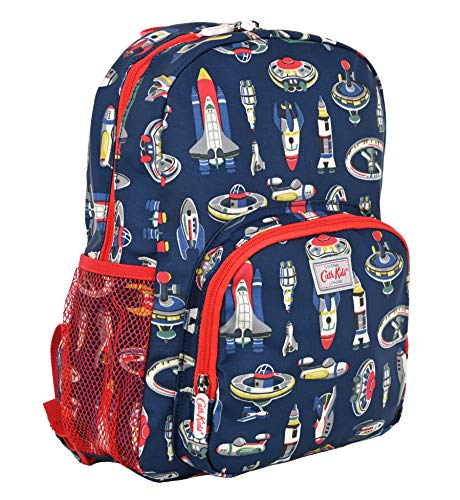 Cath Kidston Large Backpack Rucksack Up in Space in Ink Blue Oilcloth