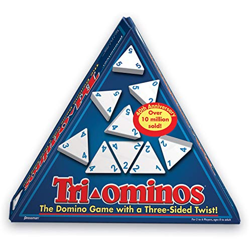 Tri-Ominos - Travel Edition with Lightweight Playing Tiles by Pressman