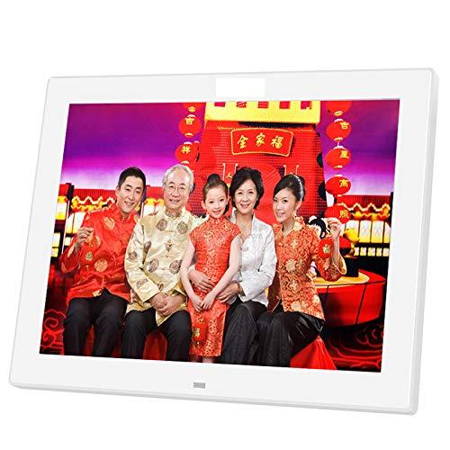 YJF-SMXK 12 Zoll Digitaler Bilderrahmen 720P IPS großer HD Ultra-Thin-Winkel 1024 × 768 mit Fernbedienung, die an der Wand montiert Wird