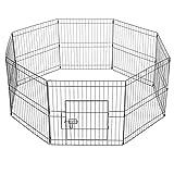 Yaheetech 8 Vallas de Cachorros para Casa Corral para Perros Plegable Parque para Mascotas 183x61X61cm