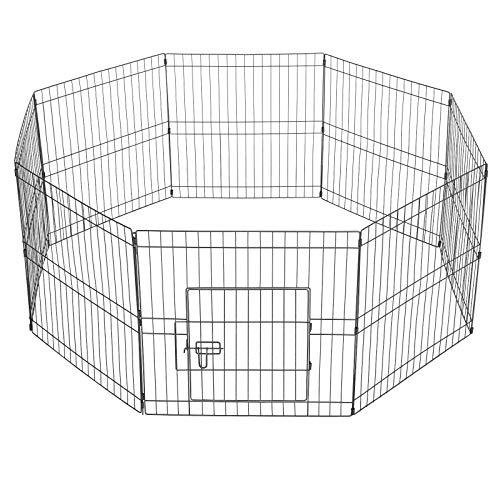 Yaheetech Recinto per Cani Gatti Cuccioli Roditori Conigli Recinzione Rete Gabbia per Piccoli Animali 8 pz Pannelli 61 x 61 cm