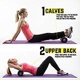 TeamSoda Fitness Massage-Set: 2 in 1 Faszienroller + doppelter Lacrosse Massageball + Massage Roller Stick - 4